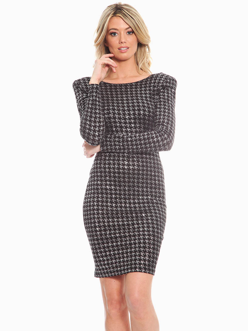 Red Loft Collection Houndstooth Cocktail Dress ...