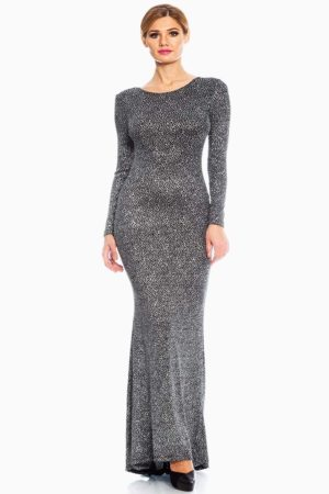 Red Loft Silver Sequin Evening Maxi