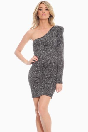 Black Silver Cocktail Dress