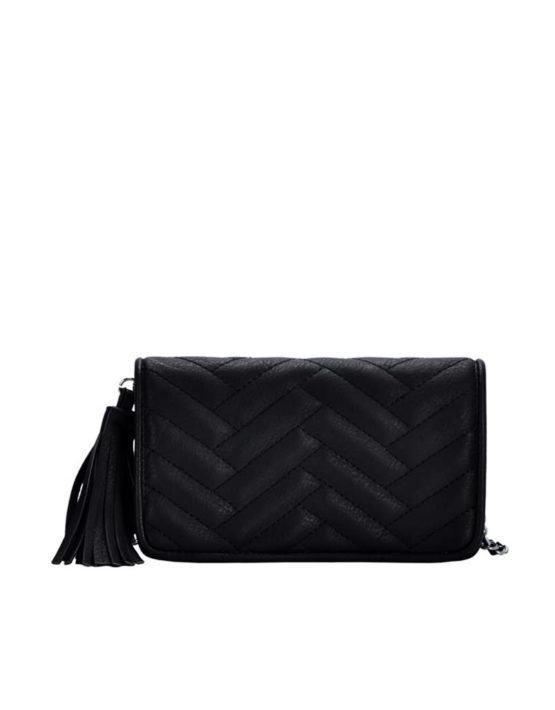 Madison West Black Cross-Body Bag