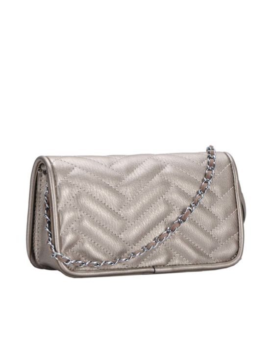 Madison West Pewter Cross-Body Bag