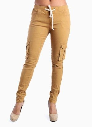 American BAZI Plus Size Wheat Cargo Pants