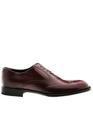 GERMANO BELLESI Burgundy Wingtip Oxfords