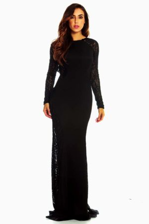 Red Loft Elegance Black Lace Mermaid Dress.