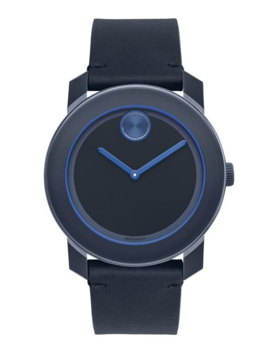 Movado Bold Navy Blue 42mm Watch