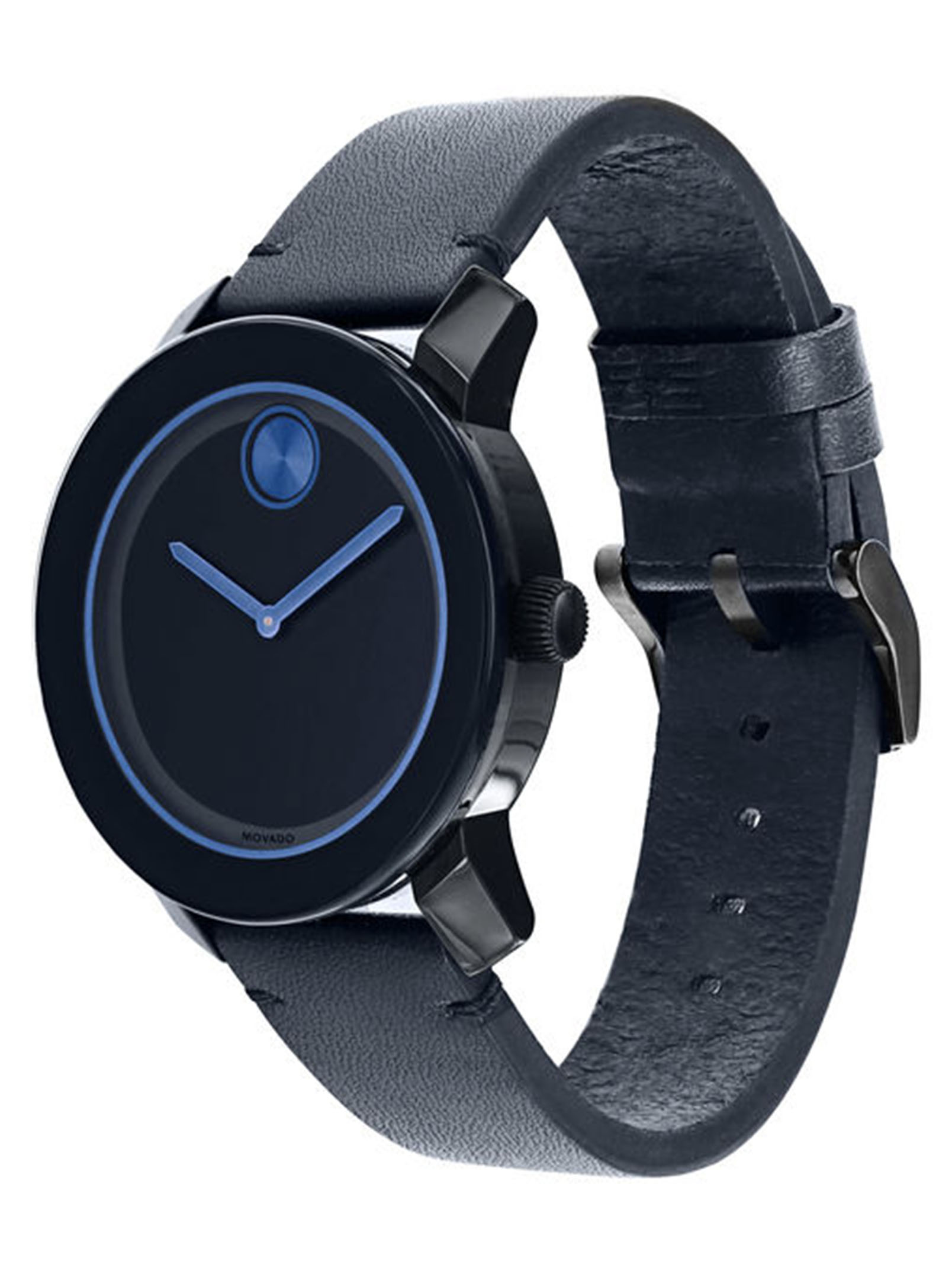 Movado Bold Navy Blue 42mm Watch Modishonline Com