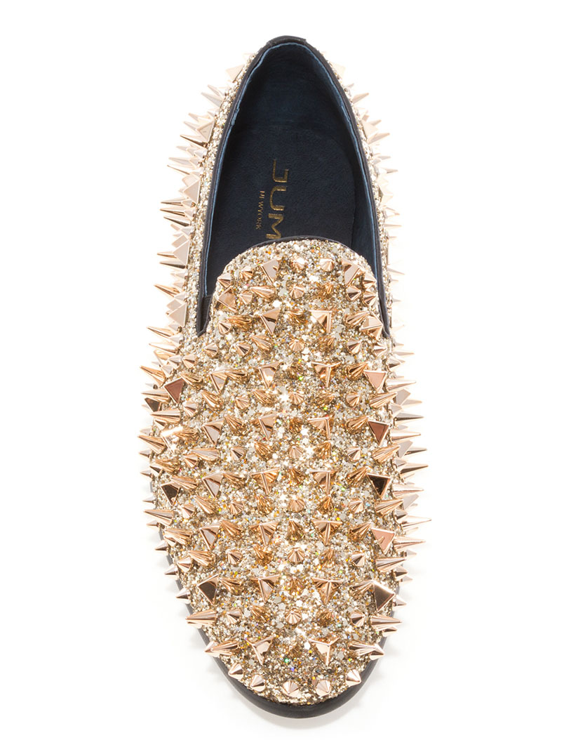Lord Gold Spike Loafers | ModishOnline.com
