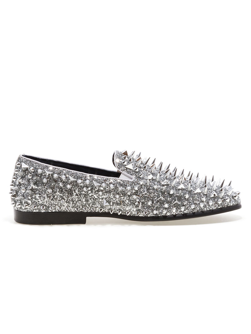 Lord Silver Spike Loafers