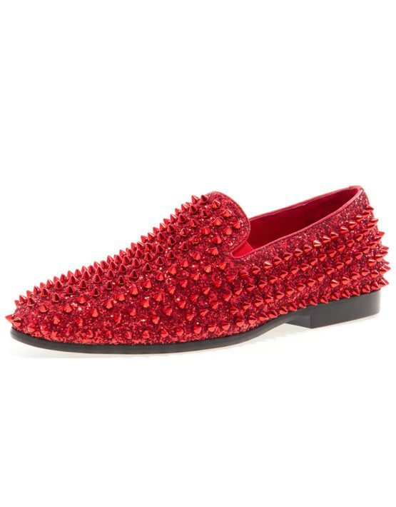 JUMP NEWYORK Luxor Red Spike Loafers
