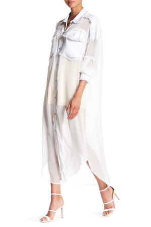 TOV White Anjelic Shirtdress