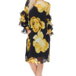 TOV Yellow Ruffle Tiered Dress