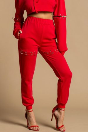 Rehab Red Ring Trimmed Sweatpants