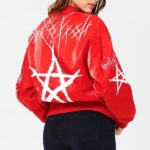 Blue Elephant Red Star Bomber Jacket
