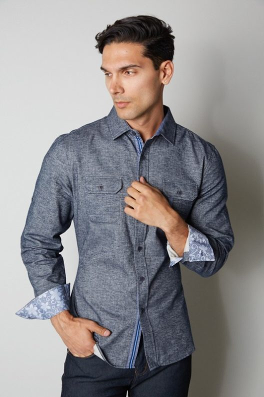 SMASH Blue Denim Button Shirt