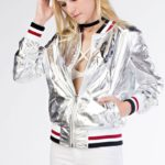 Hot & Delicious Space Out Foil Bomber Jacket