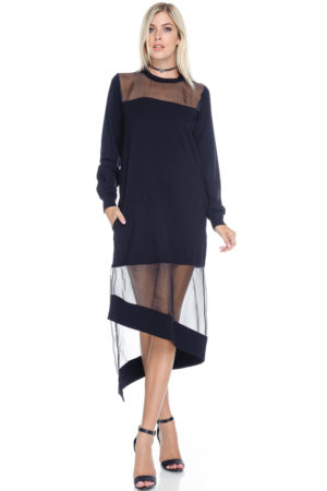 TOV Black Venus Dress