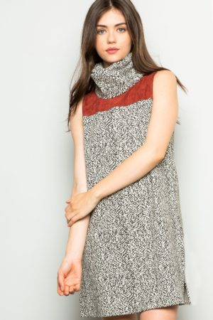 THML Sleeveless Turtleneck Shift Dress