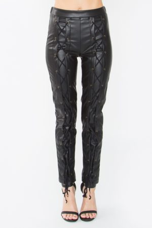 SUGARLIPS ANSON FAUX LEATHER LEGGINGS