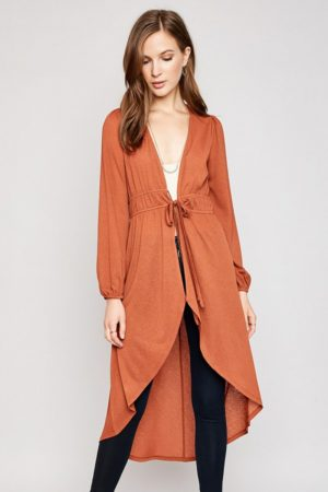 Hayden Burnt Orange Maxi Cardigan