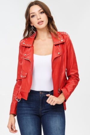 Blue Elephant Red Moto Jacket