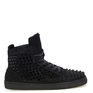 Jump New York Rarity Black Fur Studded Sneaker