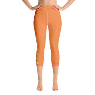 Kaep Strong Orange Vapor Yoga Capri Leggings