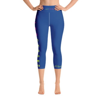 Kaep Strong Blue Vapor Yoga Capri Leggings